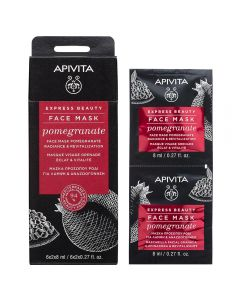 APIVITA EXPRESS POMEGRANATE ansiktsmaske 2x8 ml
