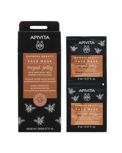 APIVITA ROYAL JELLY FIRMING & REVITALIZING ansiktsmaske 2x8 ml