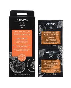 APIVITA EXPRESS APRICOT eksfolierende ansiktsmaske 2x8 ml