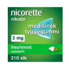 Nicorette freshmint tyggegummi 2 mg 210 stk