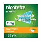 Nicorette fruitmint tyggegummi 2mg 105stk