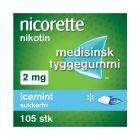 Nicorette icemint tyggegummi 2 mg 105 stk