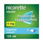 Nicorette icemint tyggegummi 4 mg 105 stk