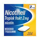 Nicotinell 2mg tyggis for røykeslutt Tropisk frukt 204 stk