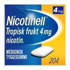 Nicotinell 4mg tyggis for røykeslutt Tropisk frukt 204 stk