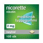 Nicorette tyggegummi nøytral 2 mg 105 stk