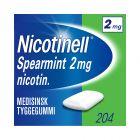 Nicotinell 2mg tyggis for røykeslutt Spearmint  204 stk