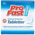 Profast Super tabletter fro rengjøring 32 stk