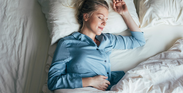 Sovende kvinne